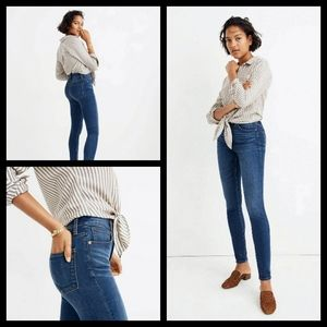 """Madewell 10"""" High Rise Skinny Jeans 28T"""
